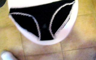 cumming in step daughters stained darksome panty