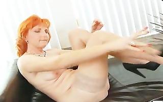 redhead mama dildos bushy bawdy cleft