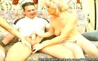 grannies share a pecker