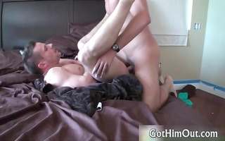 horny fellow jerking his biggest dong part1