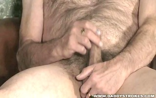 curly and sexually excited dad jerking