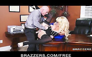 breasty blond milf offers her intern a job if he