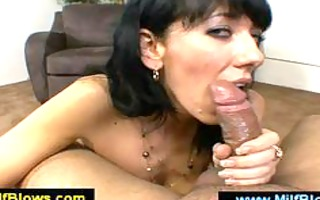 sexy mamma caressing a cock with her pointer
