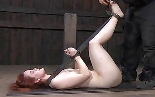 tied up bondman gets gratifying her cum-hole