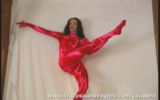 edita in magic red fullbody spandex