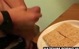 str chaps eating cum on biscuits