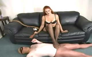 redhead in stockings pecker domina