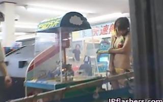 an mashiro oriental model is s garb in public
