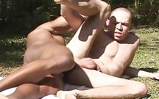 fucking muscled homosexual chap and facial