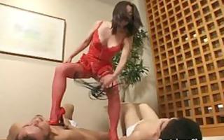 fierce dominatrix humiliates, dominates and whips