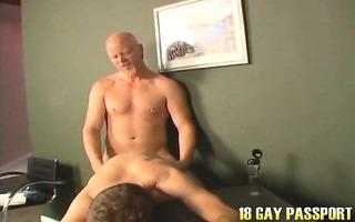 angel brown haired homo luke receives anally