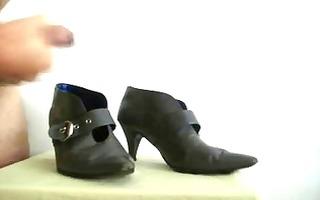 cum on ally grey boots