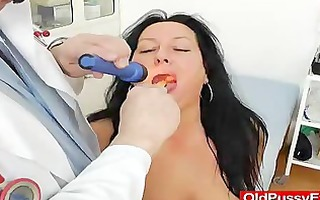 adult toy in cunt during a wife gyno