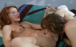 hawt redhead lesbo honeys licking pussy