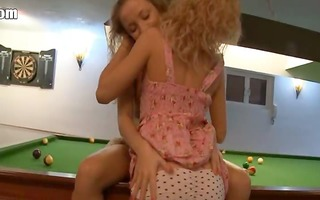 lesbian revenge on the billiards