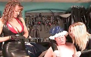 sissy dominated with coarse electrosex