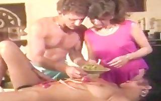 non-professional vintage porn movie scene where...