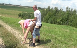 lucy drilled outdoors another time