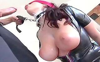 latex bondage queen is into perverted sex