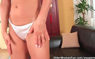 mature woman with petite mounds and sexy body