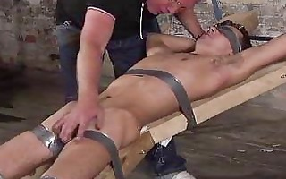 old fetish chap punishing a bigcock serf lad