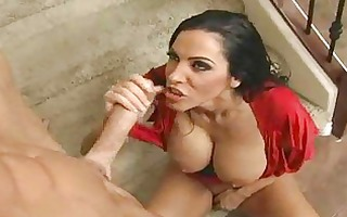 brunette hair mother i acquires stair drilled