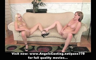 lesbo some with blondes licking pussy and fucking