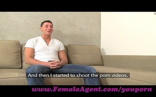 femaleagent. young man is despairing for work