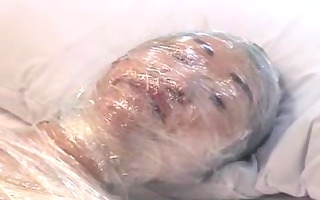 japan cutie wrapped in plastic and masturbation,
