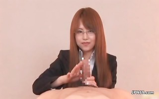 cute japanese office playgirl likes giving