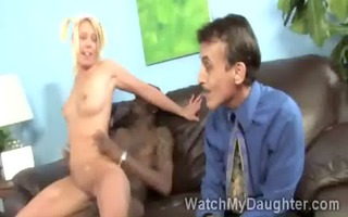 beautiful golden-haired legal age teenager rides