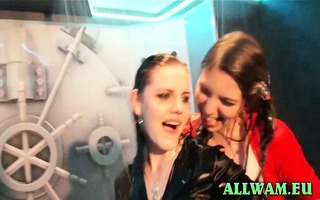 real euro shower party chicks
