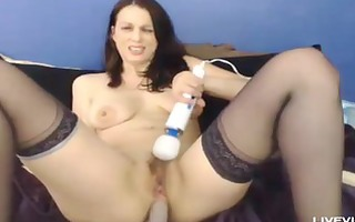 lustful hot mama rose fingers her curly love