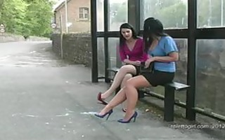 have a fun hawt lesbos in hot stilettos walking