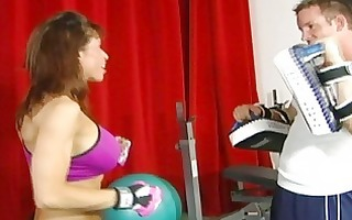 breasty mother i acquires fingering and cum on