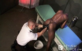 interrogator dirk disrobes race and probes for a