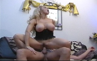 golden-haired acquires he is entire load in her