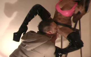 leather fetish and love for cock