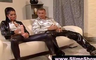 charming couples have fetish enjoyment