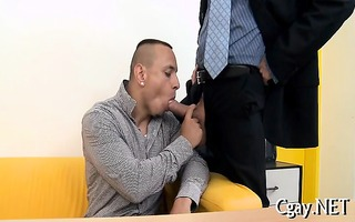 blowjob enjoyment for delightsome homosexual man