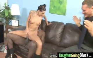 nasty legal age teenager drilled hard by dark 0