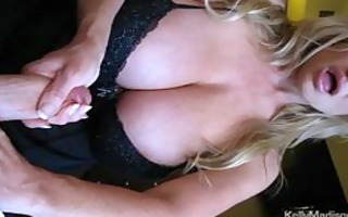 mega titted wife giving a hawt cook jerking