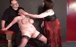 aged lesbo slavegirls way-out torture