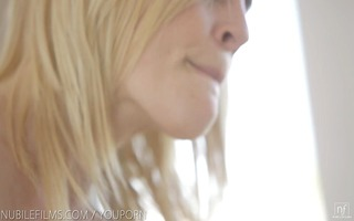 nubile films - perfect lesbian duet hungry for