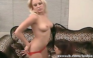 nice wazoo lesbo blonde getting cum-hole parted