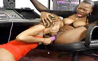 ebony lesbians take up with the tongue feet and