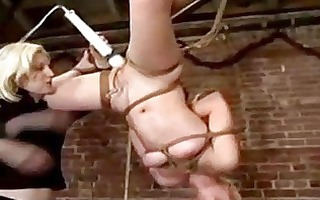 golden-haired beauty hanging in servitude getting