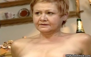 wicked aged housewife riding a younger