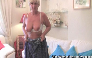 fat grandma with large old whoppers bonks a sextoy