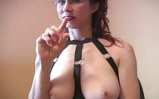 perverted redhead mother i with glasses does